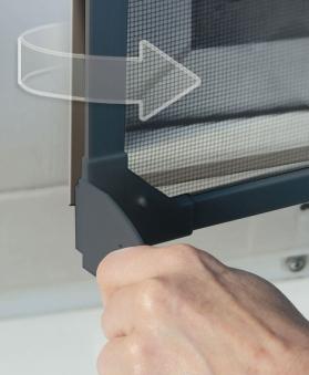 Fliegengitter Magnetic für Fenster Schellenberg 100x120cm anthrazit Bild 3