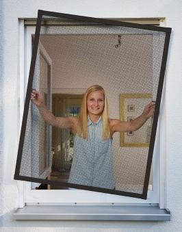 Fliegengitter Plus für Fenster Schellenberg Alu 100x120cm anthrazit Bild 2