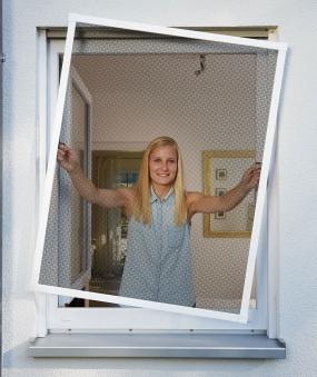 Fliegengitter Plus für Fenster Schellenberg Alu 100x120cm weiß Bild 2