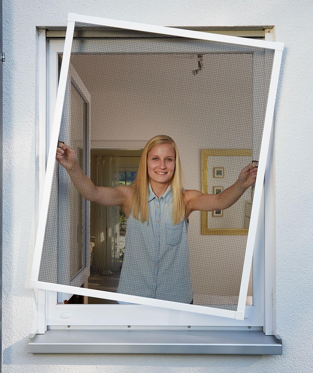 Fliegengitter Plus für Fenster Schellenberg Alu 130x150cm weiß Bild 2