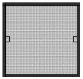 Fliegengitter Premium für Fenster Schellenberg Alu 100x120 anthrazit Bild 1