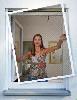 Fliegengitter Premium für Fenster Schellenberg Alu 100x120 weiß Bild 2