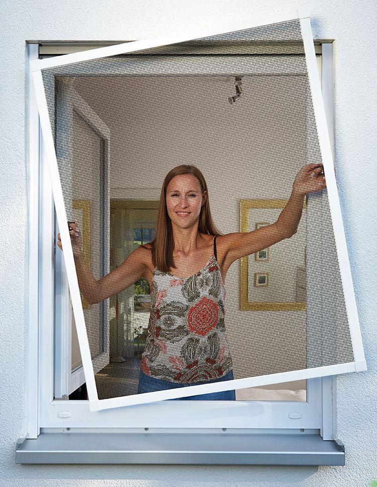 Fliegengitter Premium für Fenster Schellenberg Alu 140x150 weiß Bild 2