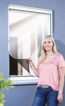 Fliegengitter Reflection Magnetic Fenster Schellenberg 100x120cm weiß Bild 1