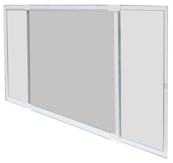 Fliegengitter Schiebefenster Schellenberg 50x75-142cm weiß Bild 1