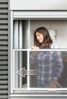 Fliegengitter Schiebefenster Schellenberg 50x75-142cm weiß Bild 2