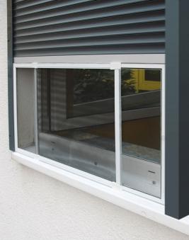Fliegengitter Schiebefenster Schellenberg 50x75-142cm weiß Bild 3