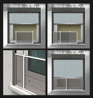 Fliegengitter Schiebefenster Schellenberg 50x75-142cm weiß Bild 4