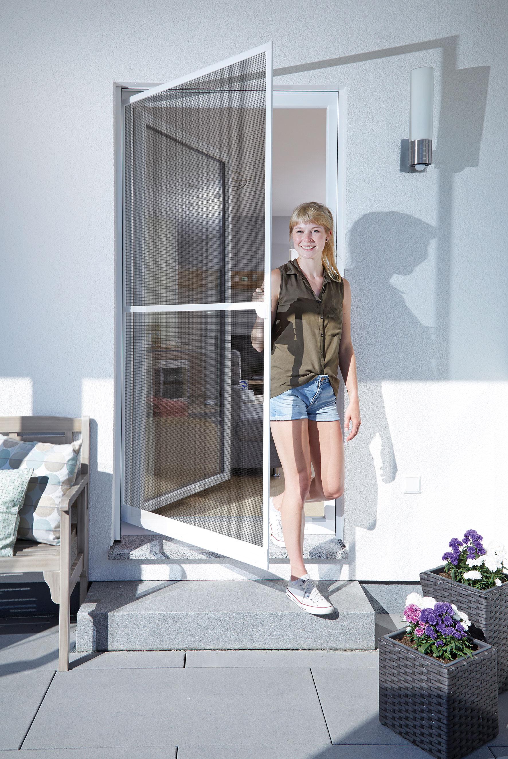 Fliegengitter Tür Basic Schellenberg 100x210cm weiß Bild 1