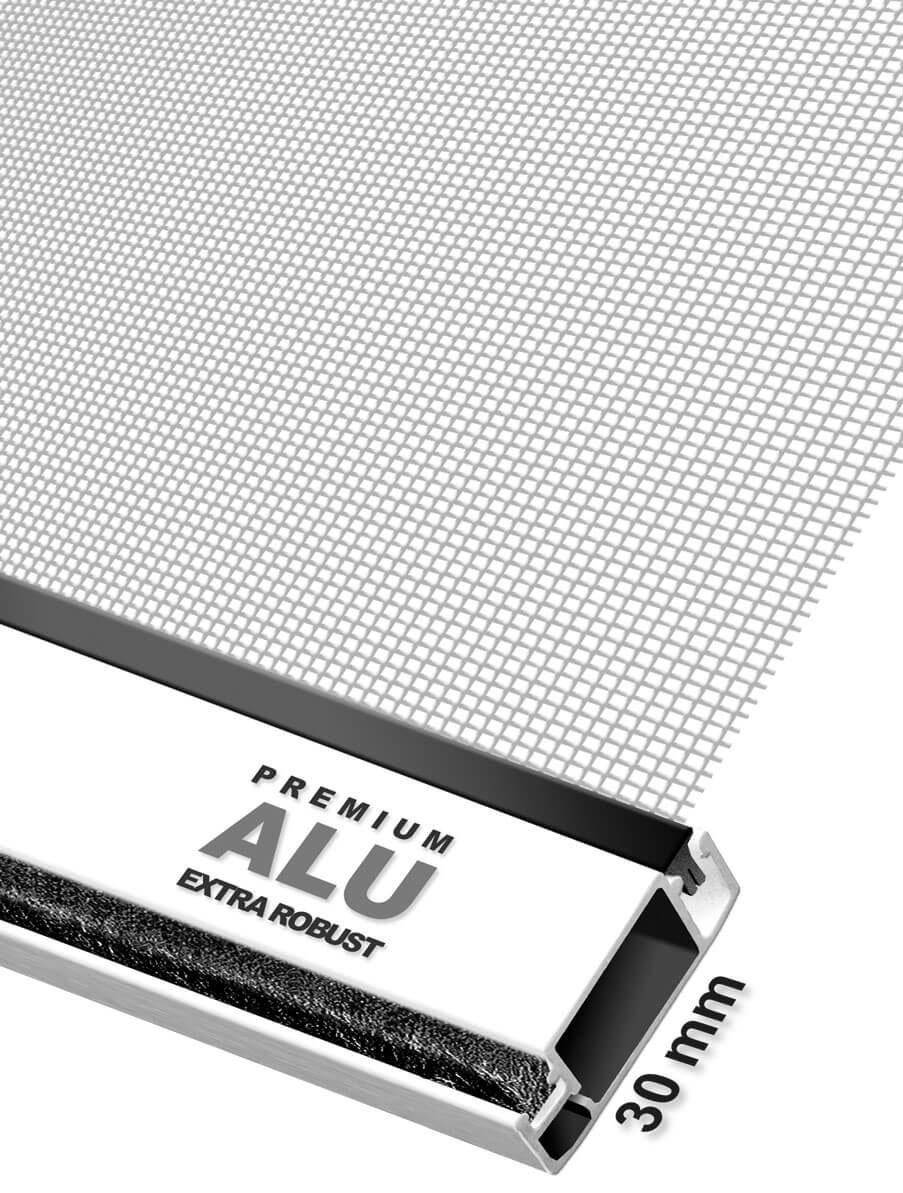 Fliegengitter Tür Premium Schellenberg 100x215cm weiß Bild 3