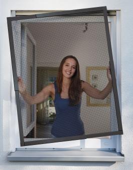 Fliegengitter Telescope für Fenster Schellenberg 140x150cm anthrazit Bild 1