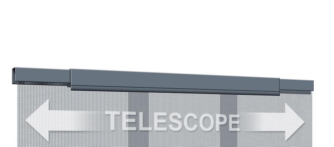 Fliegengitter Teleskopvorhang Tür Schellenberg 95x220cm anthrazit Bild 2