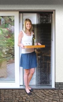 Fliegengitter Vorhang Tür Premium Schellenberg 95x220cm anthrazit Bild 1