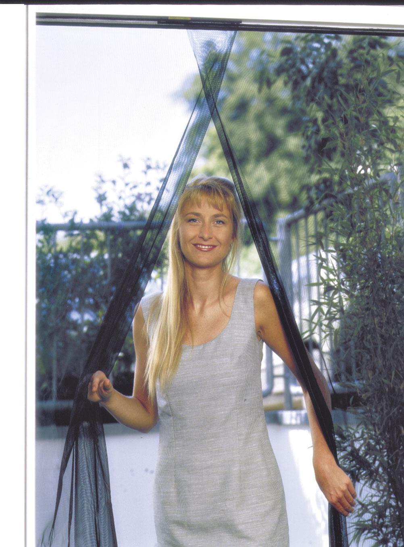 Fliegengitter Vorhang Tür Schellenberg 140x240cm anthrazit Bild 1