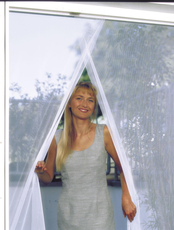 Fliegengitter Vorhang Tür Schellenberg 140x240cm weiß Bild 1