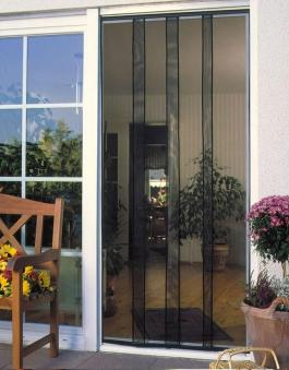 Fliegengitter Vorhang Tür Standard Schellenberg 100x220cm anthrazit Bild 1