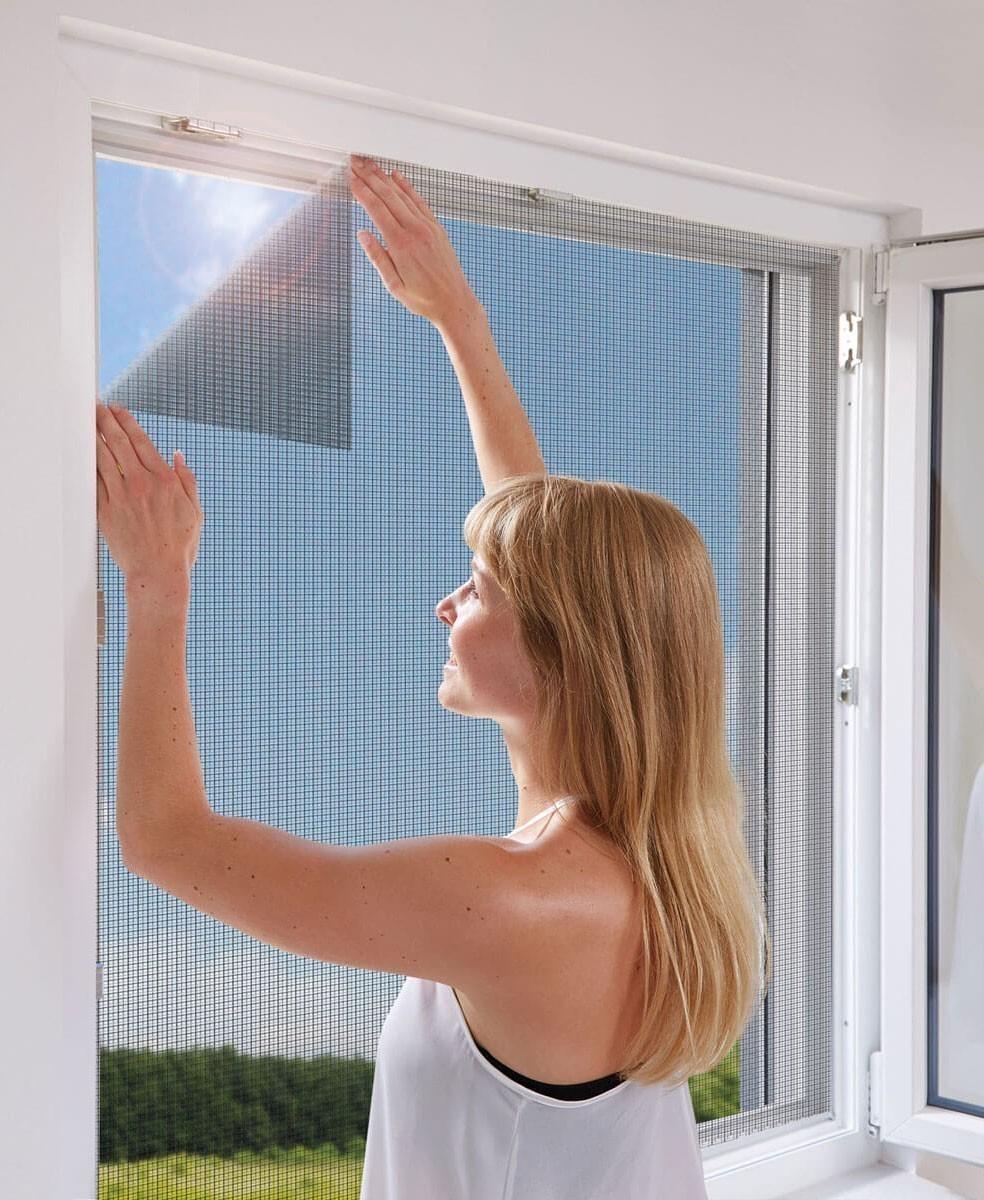 Fliegengitter mit Befestigung Fenster Schellenberg 100x100cm anthrazit Bild 2