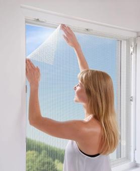 Fliegengitter mit Befestigung Fenster Schellenberg 100x100cm weiß Bild 2