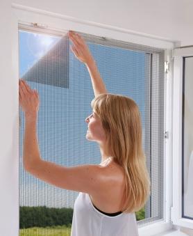 Fliegengitter mit Befestigung Fenster Schellenberg 100x130cm anthrazit Bild 2