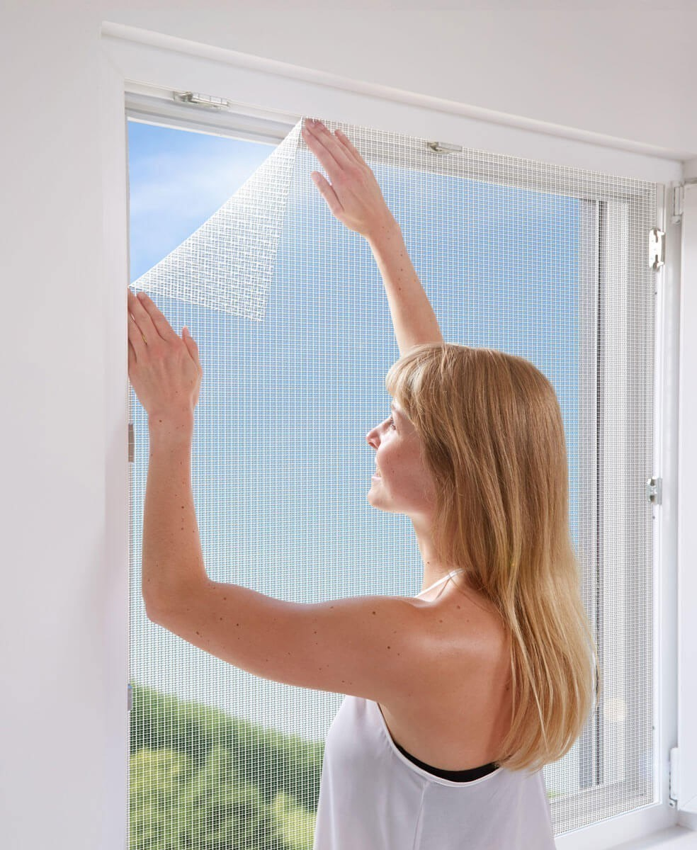 Fliegengitter mit Befestigung Fenster Schellenberg 150x180cm weiß Bild 2