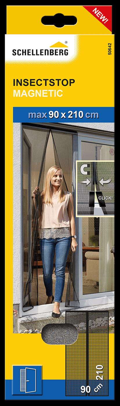 Insektenschutz Magnetvorhang Schellenberg anthrazit 90x210 Bild 1