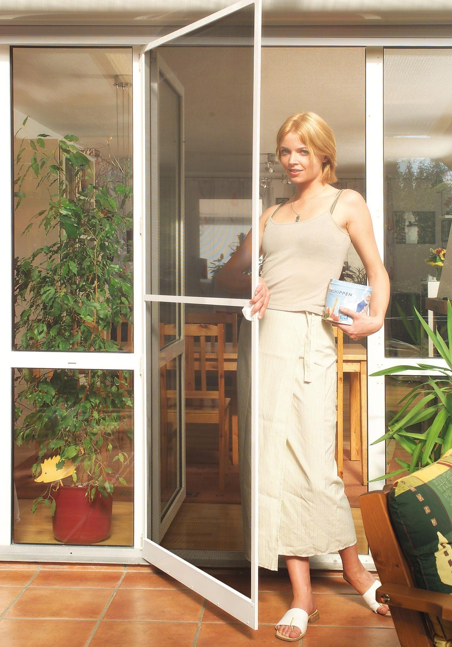 Insektenschutz-Tür Plus Schellenberg 100x210cm weiß Bild 1