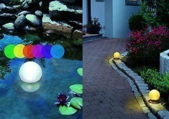 gartenleuchte leuchtkugel solar led wechsellicht schwimmf hig 14cm bei. Black Bedroom Furniture Sets. Home Design Ideas