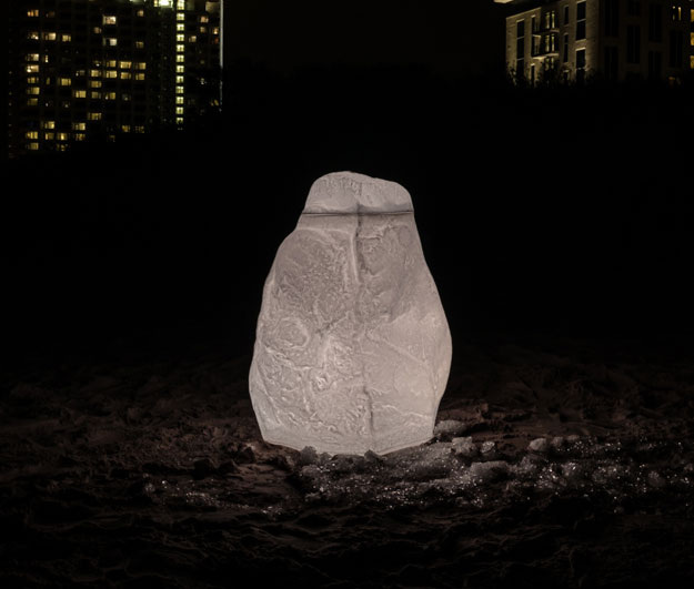 GreenLife LED Hinkelstein XL Farbe natur-weiß Bild 1
