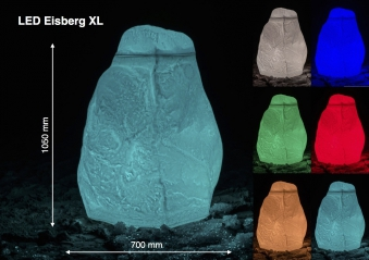 GreenLife LED Hinkelstein XL Farbe natur-weiß Bild 3