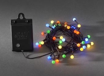 Konstsmide LED Globelichterkette 40LEDs batteriebetr. bunt Bild 1