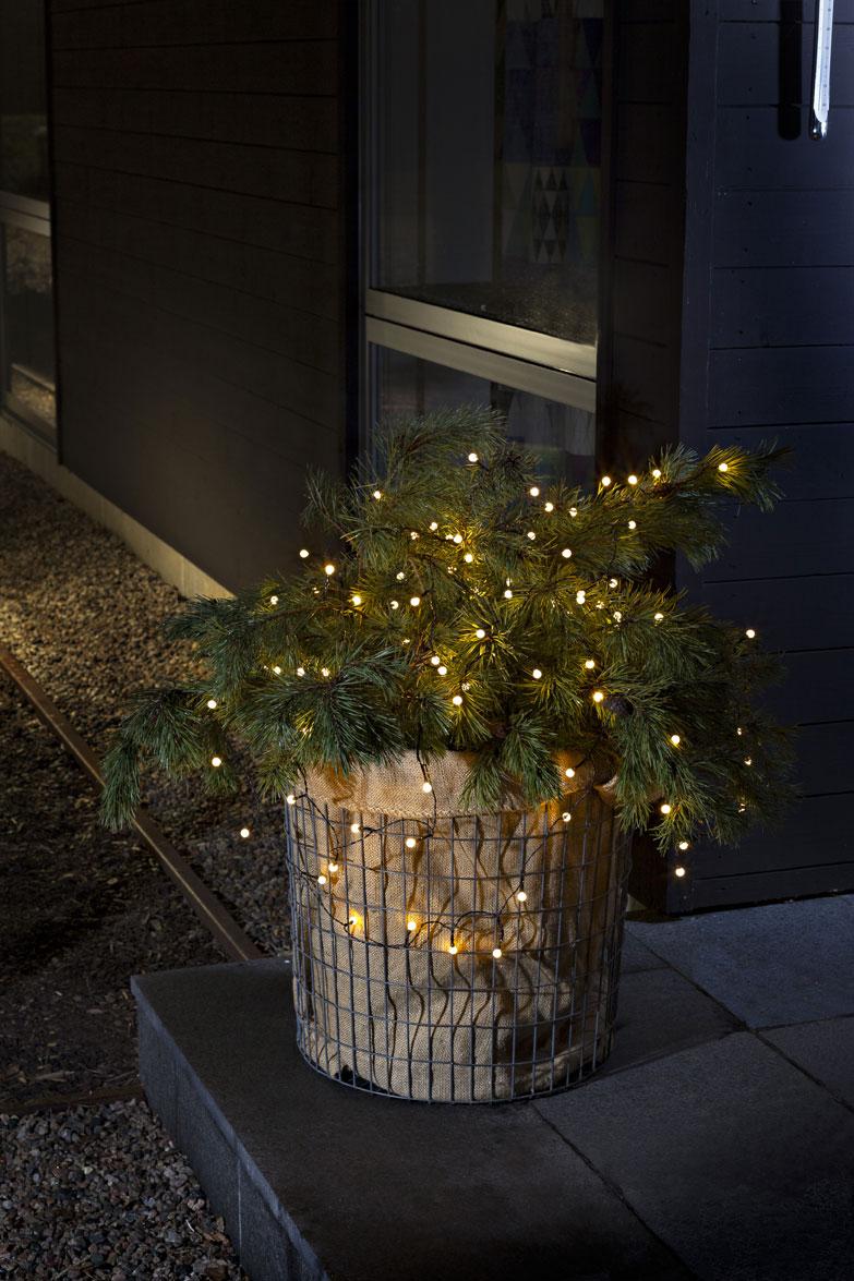 Konstsmide LED Globelichterkette batteriebetr. 40LEDs weiß/schwarz Bild 2