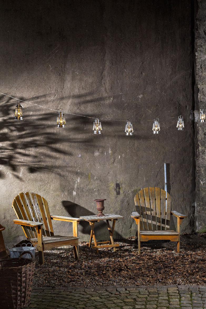 Konstsmide Lichterkette LED 8 silbernen Sturmlaternen außen Bild 2