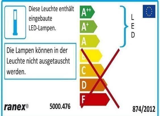 LED Bodeneinbauspot Emma eckig Ranex 6-er Set Edelstahl Bild 4