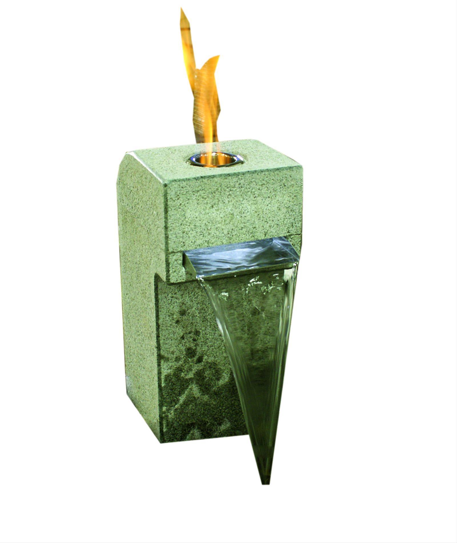 Feuer-Wasserspiel Set Garden Gibbet Yellow Granit gelb für Bioethanol Bild 1