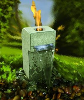 Feuer-Wasserspiel Set Garden Gibbet Yellow Granit gelb für Bioethanol Bild 2