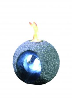Feuer-Wasserspiel Set GardenForma Dot Granit dunkel für Bioethanol Bild 1