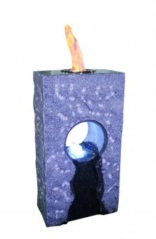 Feuer-Wasserspiel Set GardenForma Iris Granit grau für Bioethanol Bild 1