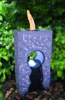 Feuer-Wasserspiel Set GardenForma Iris Granit grau für Bioethanol Bild 2