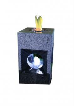 Feuer-Wasserspiel Set GardenForma Oracle Granit grau für Bioethanol Bild 1