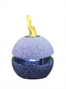Feuer-Wasserspielset GardenForma Sphere Granit grau für Bioethanol Bild 1