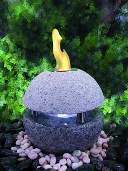 Feuer-Wasserspielset GardenForma Sphere Granit grau für Bioethanol Bild 2