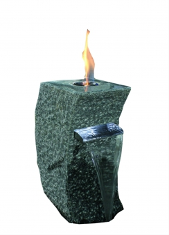 Feuer-Wasserspielset GardenForma Storm-Grey Granit grau für Bioethanol Bild 1
