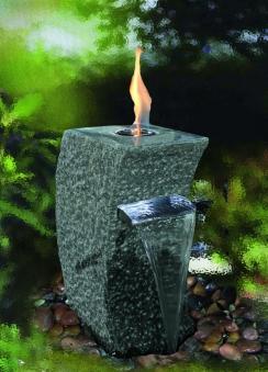 Feuer-Wasserspielset GardenForma Storm-Grey Granit grau für Bioethanol Bild 2