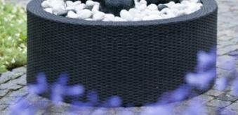 Springbrunnen-Umrandung Wicker 2 für AquaArte Becken bis Ø88cm/150L