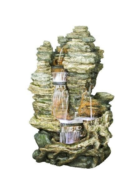 gartenbrunnen springbrunnen ubbink wasserfall miami. Black Bedroom Furniture Sets. Home Design Ideas
