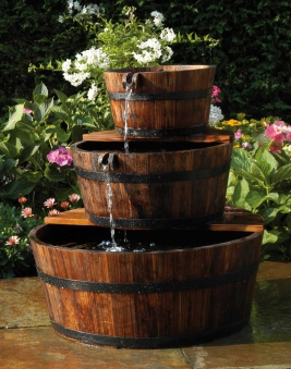 Gartenbrunnen / Wasserfall Ubbink AcquaArte Edinburgh Holz Bild 1