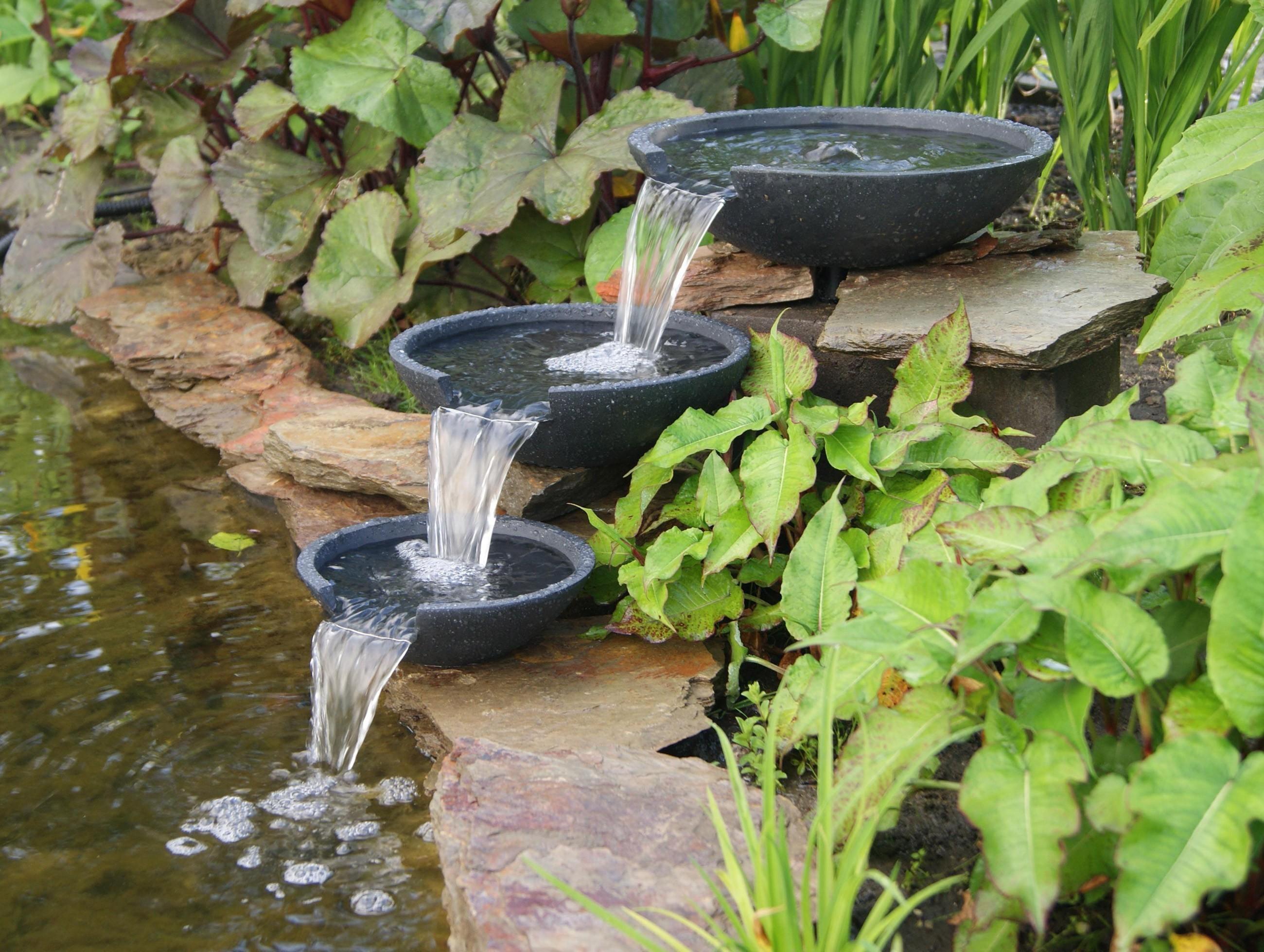 Gartenbrunnen / Wasserfall Ubbink AcquaArte Mistaya anthrazit Bild 1
