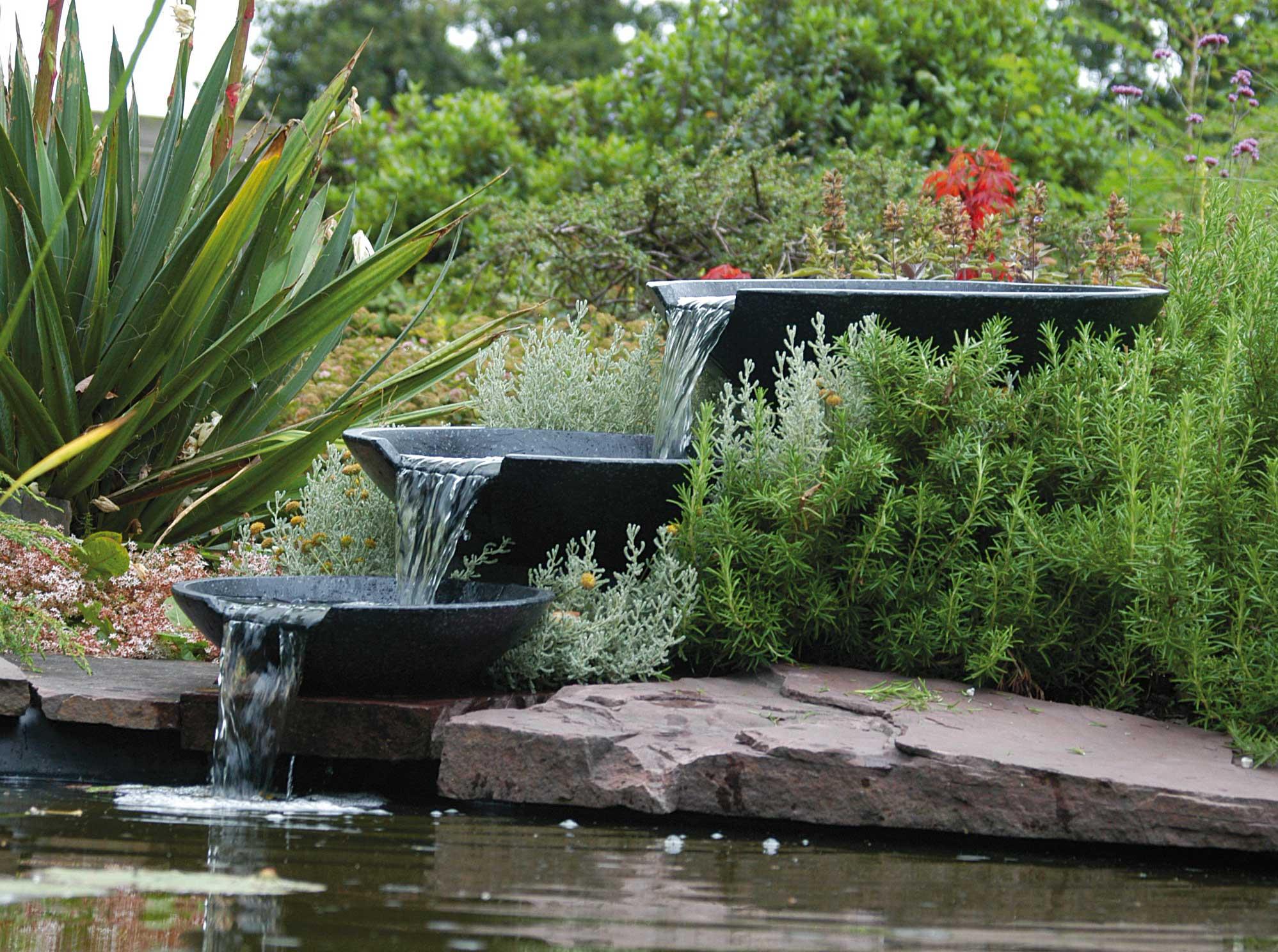 Gartenbrunnen / Wasserfall Ubbink AcquaArte Nova Scotia anthrazit Bild 1