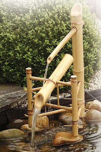 Gartenbrunnen / Wasserspiel Bamboo ubbink AcquaArte Bambus Bild 1