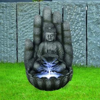 Gartenbrunnen / Wasserspiel / Zimmerbrunnen GardenForma Buddha Calm Bild 2